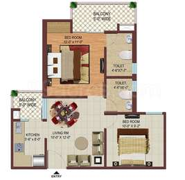2 BHK Apartment in Color Homes