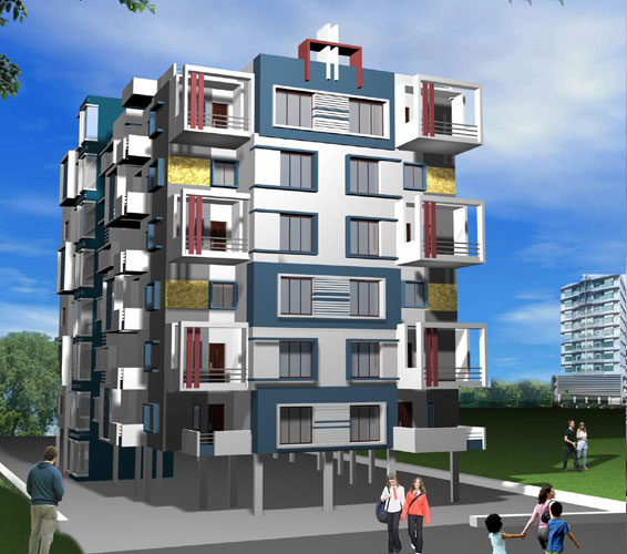 Concrete Rudra Apartment in Khamla, Nagpur
