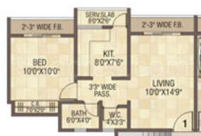 1 BHK Apartment in Cosmos Orchid
