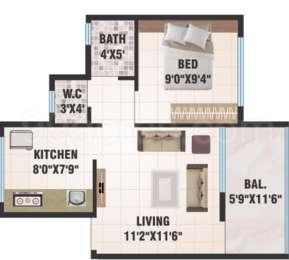 1 BHK Apartment in CPM Estate
