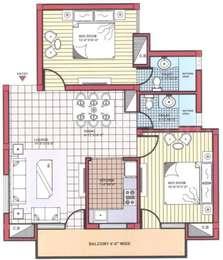 2 BHK Apartment in CT Elite Towers