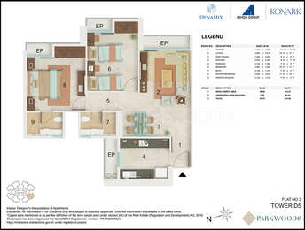 2 BHK Apartment in Dynamix Parkwoods