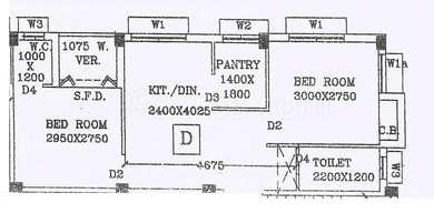 2 BHK Apartment in Deb Madhav Kunj