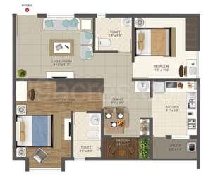 2 BHK Apartment in Deccan Habitat