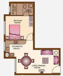 1 BHK Apartment in Desai DD Golden Gate