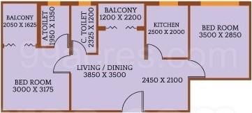 2 BHK Apartment in Deeshari Mega City