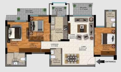 3 BHK Apartment in DLF Regal Gardens