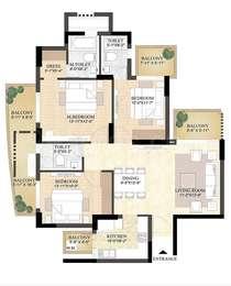 3 BHK Apartment in DLF The Primus