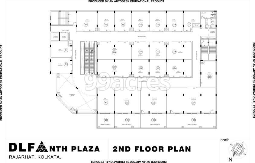 DLF New Town Heights Plaza Typical Floor Plan