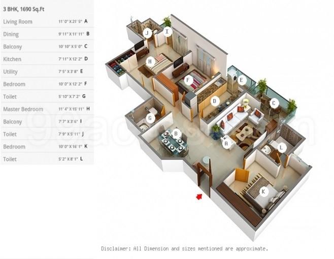 Dlf Builders Dlf Westend Heights Floor Plan Akshaya Nagar Bangalore South