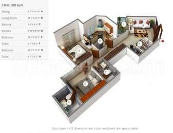 2 BHK Apartment in DLF Westend Heights