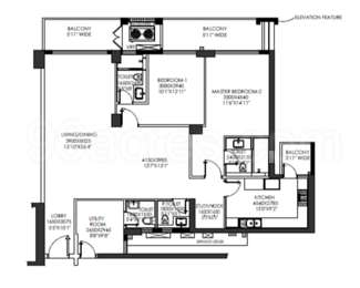 2 BHK Apartment in DLF The Crest