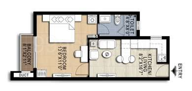 1 BHK Apartment in Doshi Risington