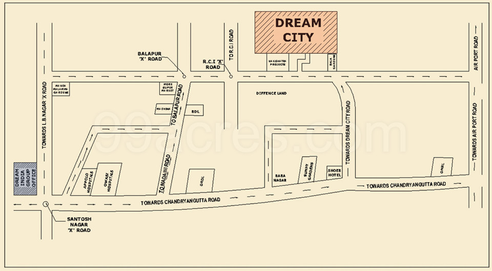 Dream India Group Dream City Map - Dream City Balapur ... on alexandria map, eclipse map, love map, america map, fiction map,