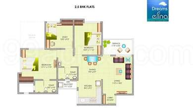 2 BHK Apartment in Dreams Elina