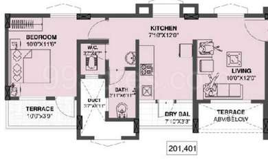 1 BHK Apartment in Dreams Solace
