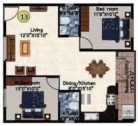 2 BHK Apartment in