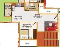 1 BHK Apartment in DS Max Smart Nest