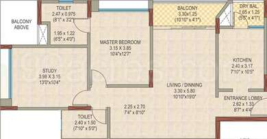 1 BHK Apartment in DSK Garden Enclave