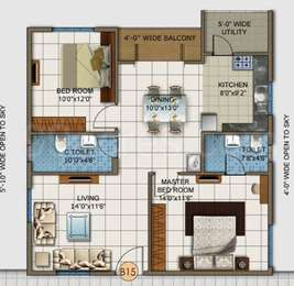 2 BHK Apartment in DSR White Waters