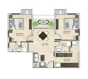 2 BHK Apartment in DTC Southern Heights