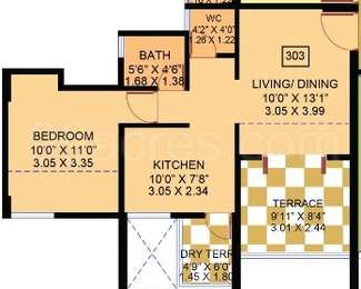 1 BHK Apartment in Dynamic Linea