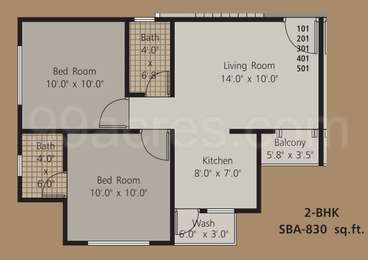 2 BHK Apartment in Earth Artica