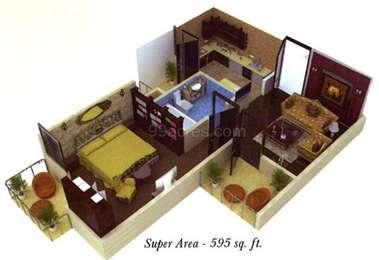 1 BHK Apartment in Earth Gharonda