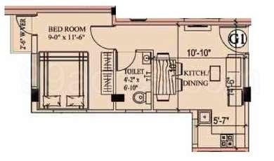 1 BHK Apartment in Eden Richmond Park