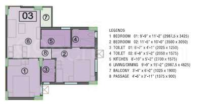 2 BHK Apartment in Eden City Maheshtala
