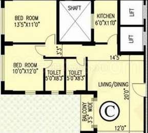 2 BHK Apartment in Ekta Floral