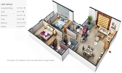 2 BHK Apartment in Ekta Heights