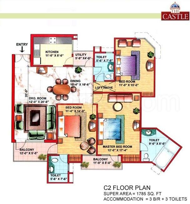 Eldeco Builders Eldeco The Castle Floor Plan - Eldeco The Castle ...