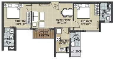 2 BHK Apartment in Elita Garden Vista Phase 2