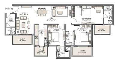 3 BHK Apartment in Emaar Imperial Gardens