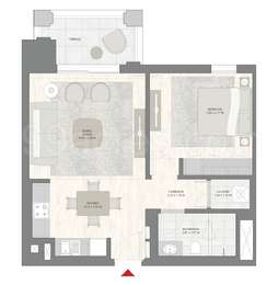 1 BHK Apartment in Emaar Breeze