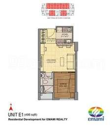 1 BHK Apartment in Emami Tejomaya