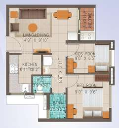 2 BHK Apartment in Embassy Residency