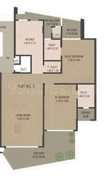 2 BHK Apartment in Emgee Anantam