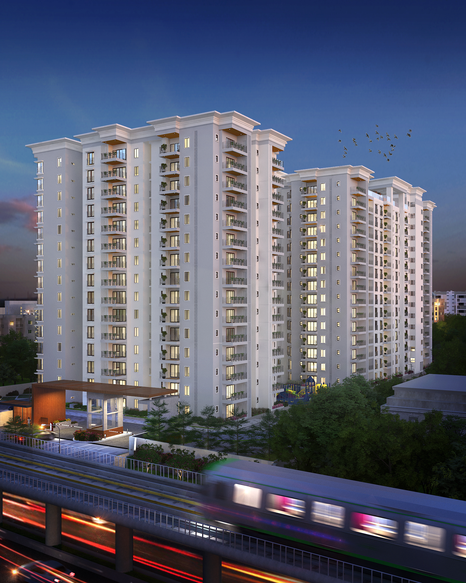Centreo By Prime One Corp  and Enessen Estates Elevation