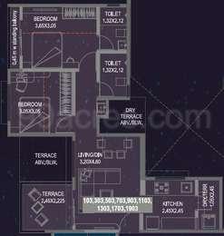 2 BHK Apartment in Aishwaryam Comfort Gold