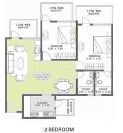 2 BHK Apartment in Esteem Enclave