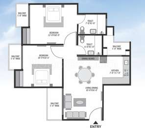 2 BHK Apartment in Exotica Dreamville