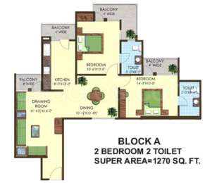 2 BHK Apartment in Express Greens