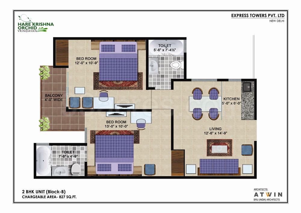 Express Towers Builders Express Hare Krishna Orchid Floor Plan