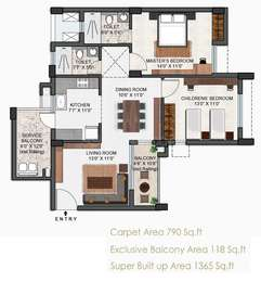 2 BHK Apartment in Falcon Crest
