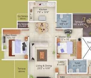 2 BHK Apartment in Fortune 108