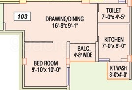 1 BHK Apartment in Fortune Township