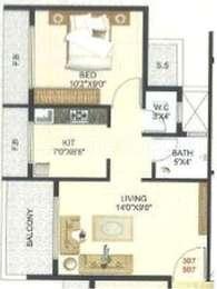 1 BHK Apartment in Future Pride