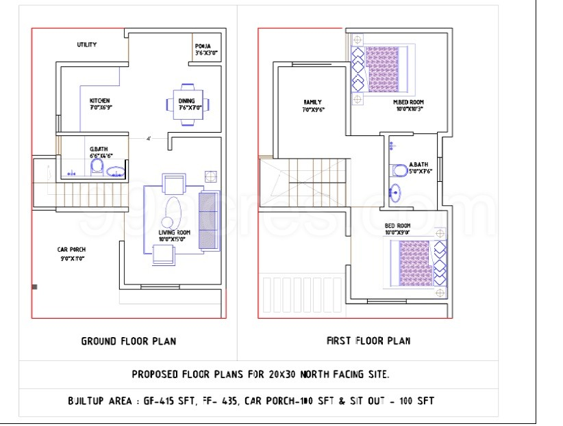 Glamorous 1000 Sq Ft 2bhk House Plans Gallery Ideas
